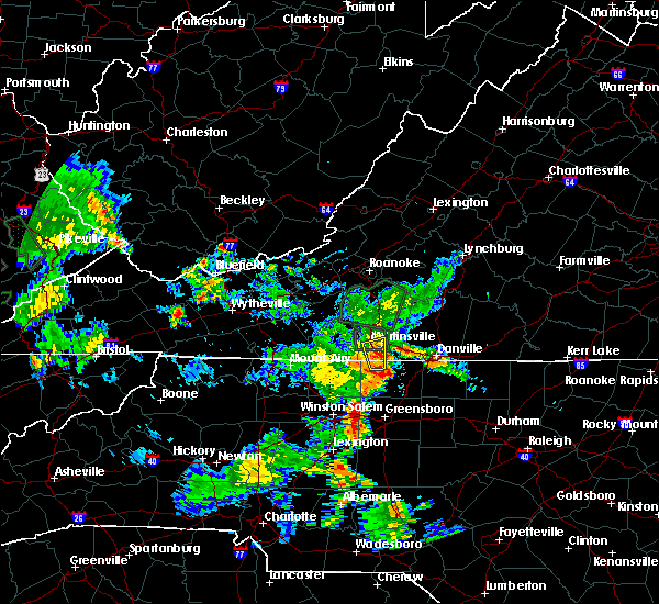 Radar Image for Severe Thunderstorms near Horse Pasture, VA at 5/24/2020 7:36 PM EDT