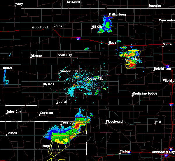 Radar Image for Severe Thunderstorms near Follett, TX at 5/24/2020 6:38 PM CDT