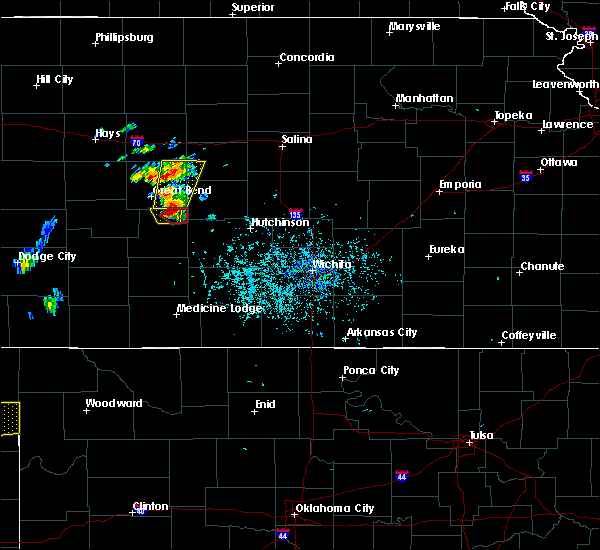 Radar Image for Severe Thunderstorms near Ellinwood, KS at 5/24/2020 6:41 PM CDT