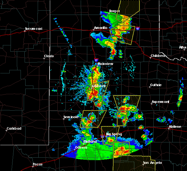 Radar Image for Severe Thunderstorms near Snyder, TX at 5/24/2020 6:42 PM CDT