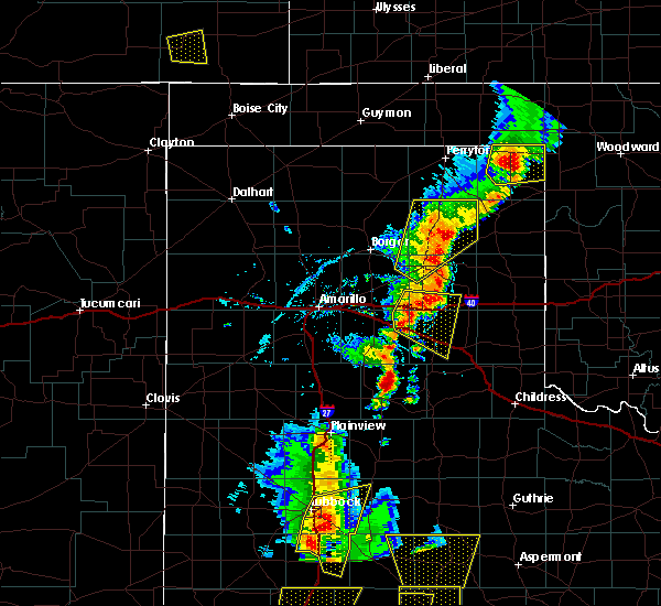 Radar Image for Severe Thunderstorms near Claude, TX at 5/24/2020 6:45 PM CDT