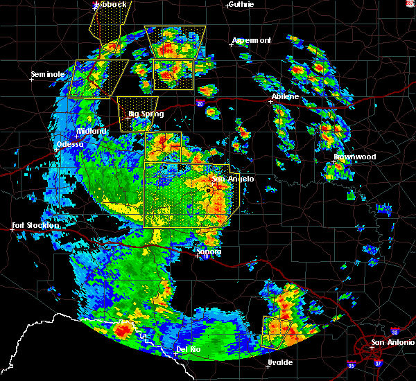 Radar Image for Severe Thunderstorms near Bronte, TX at 5/24/2020 6:59 PM CDT