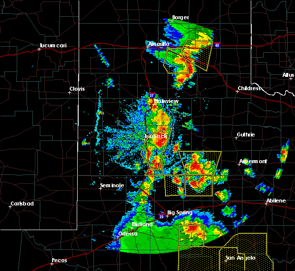 Radar Image for Severe Thunderstorms near Gail, TX at 5/24/2020 7:01 PM CDT