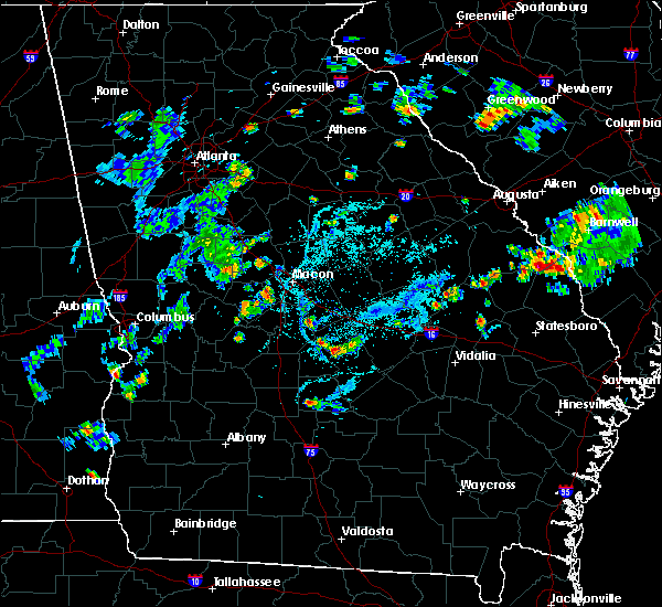 Radar Image for Severe Thunderstorms near Cochran, GA at 5/24/2020 8:03 PM EDT