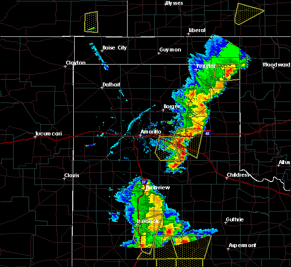 Radar Image for Severe Thunderstorms near Claude, TX at 5/24/2020 7:11 PM CDT