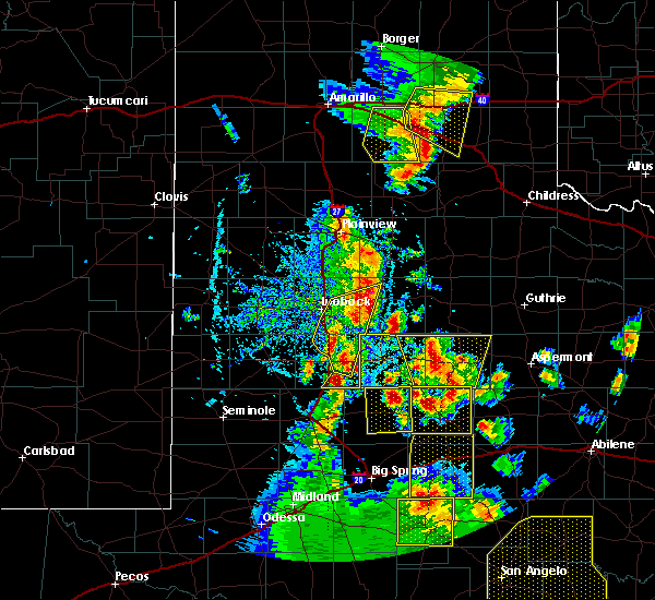 Radar Image for Severe Thunderstorms near Ralls, TX at 5/24/2020 7:15 PM CDT