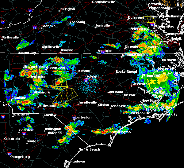 Radar Image for Severe Thunderstorms near Sanford, NC at 6/27/2015 5:07 PM EDT