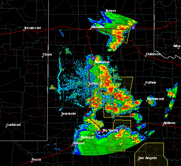 Radar Image for Severe Thunderstorms near Snyder, TX at 5/24/2020 7:20 PM CDT