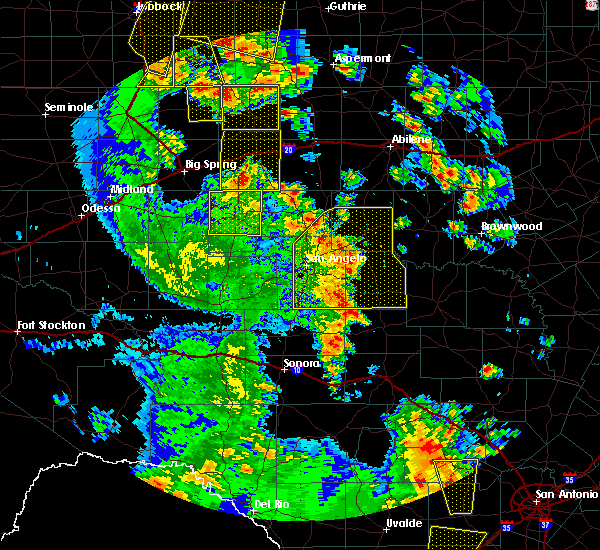 Radar Image for Severe Thunderstorms near Loraine, TX at 5/24/2020 7:22 PM CDT