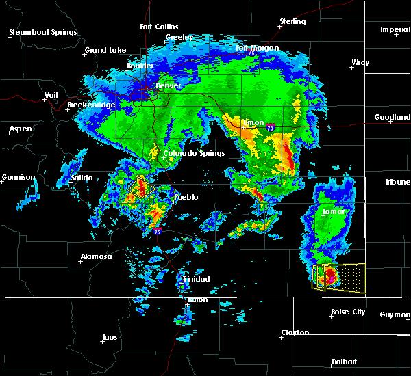 Radar Image for Severe Thunderstorms near Kit Carson, CO at 5/24/2020 6:30 PM MDT