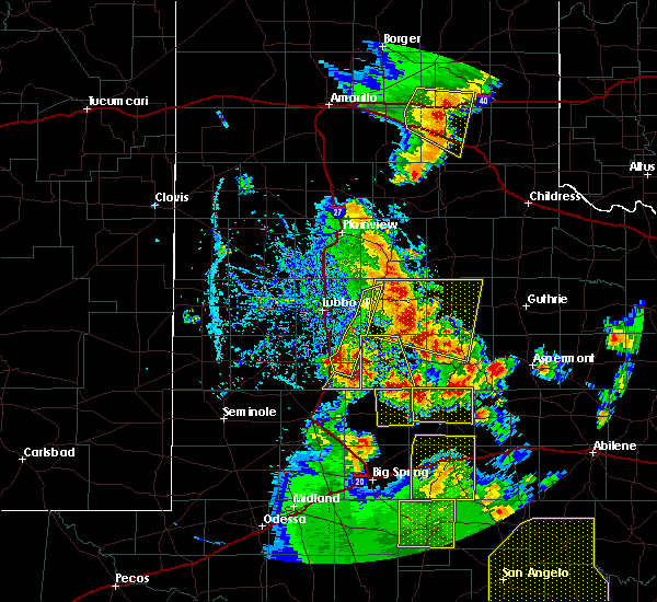 Radar Image for Severe Thunderstorms near Ralls, TX at 5/24/2020 7:30 PM CDT