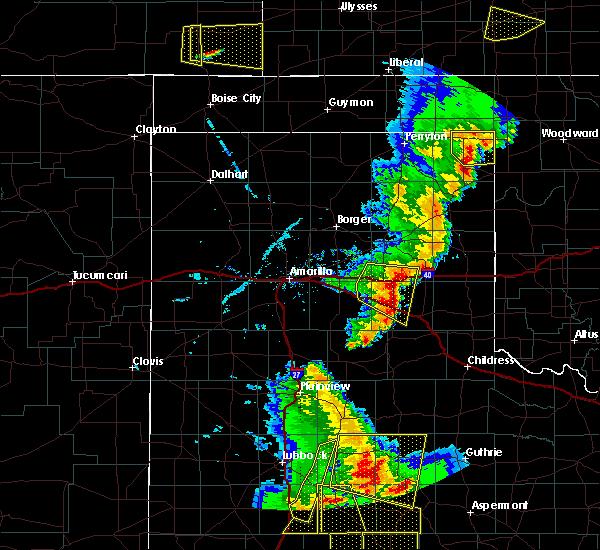 Radar Image for Severe Thunderstorms near Lefors, TX at 5/24/2020 7:32 PM CDT