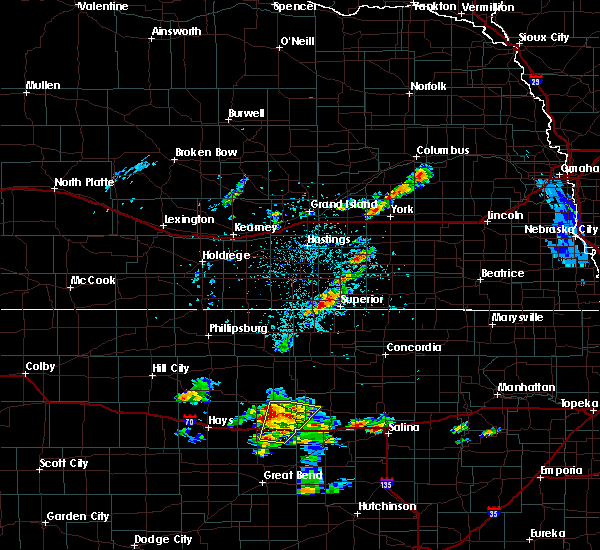 Radar Image for Severe Thunderstorms near Guide Rock, NE at 5/24/2020 7:39 PM CDT