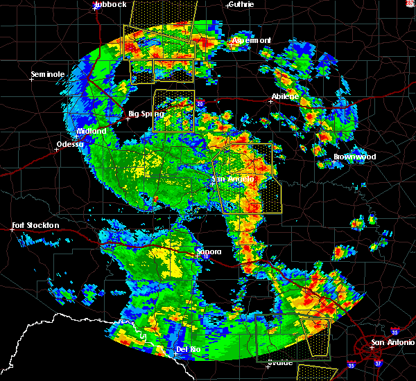 Radar Image for Severe Thunderstorms near Loraine, TX at 5/24/2020 7:40 PM CDT