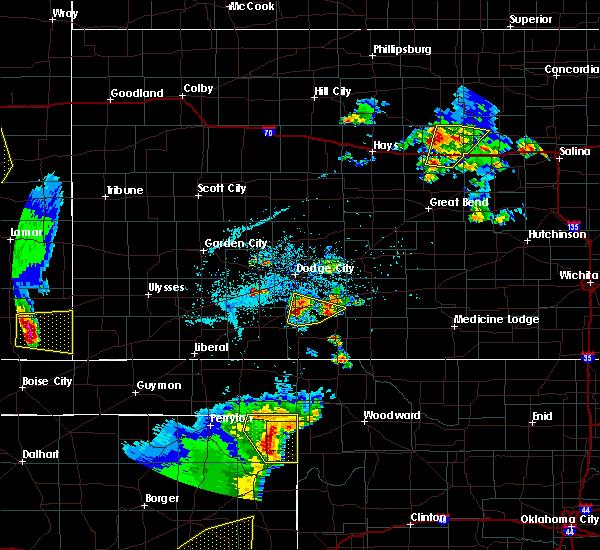Radar Image for Severe Thunderstorms near Ford, KS at 5/24/2020 7:43 PM CDT