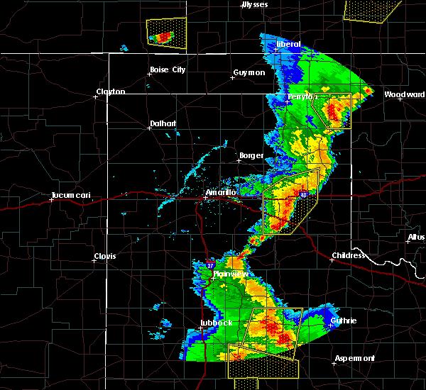 Radar Image for Severe Thunderstorms near Lefors, TX at 5/24/2020 7:47 PM CDT