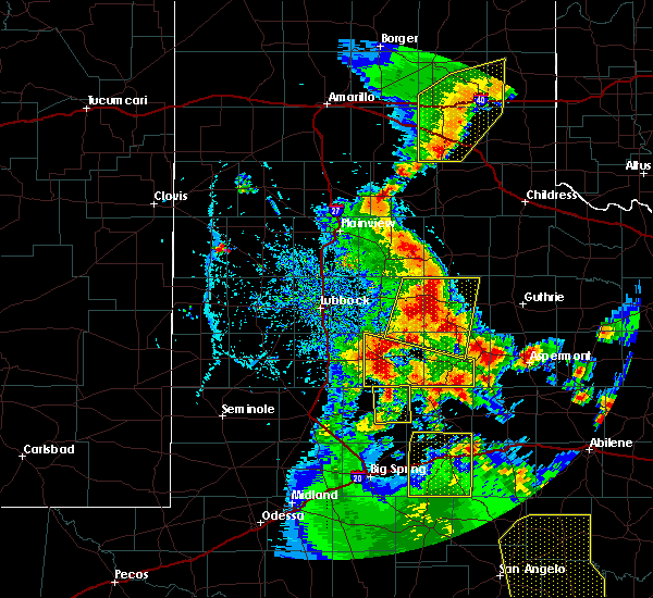Radar Image for Severe Thunderstorms near Guthrie, TX at 5/24/2020 7:52 PM CDT