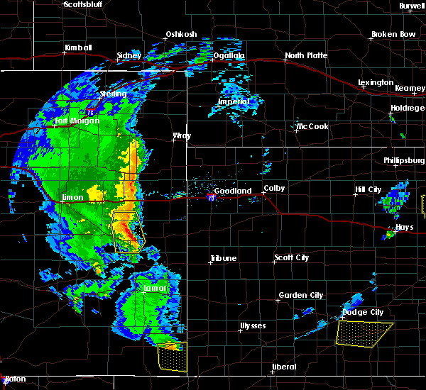 Radar Image for Severe Thunderstorms near Kit Carson, CO at 5/24/2020 6:57 PM MDT