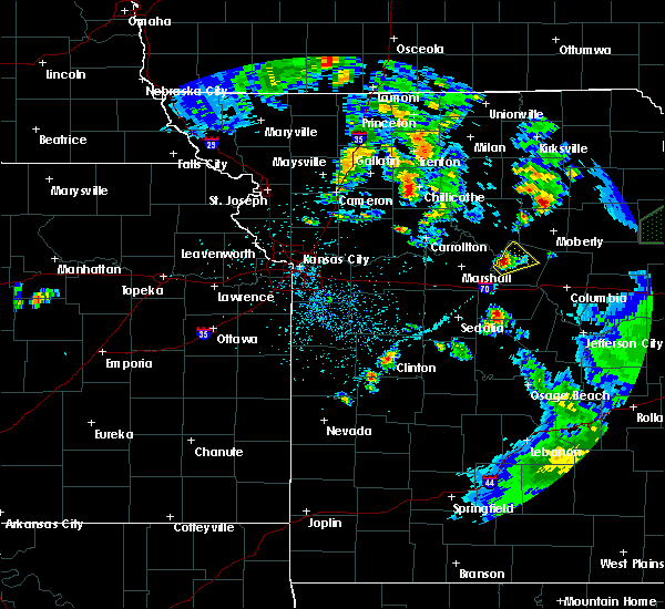 Radar Image for Severe Thunderstorms near Glasgow, MO at 5/24/2020 7:58 PM CDT