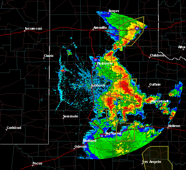 Radar Image for Severe Thunderstorms near Post, TX at 5/24/2020 7:59 PM CDT