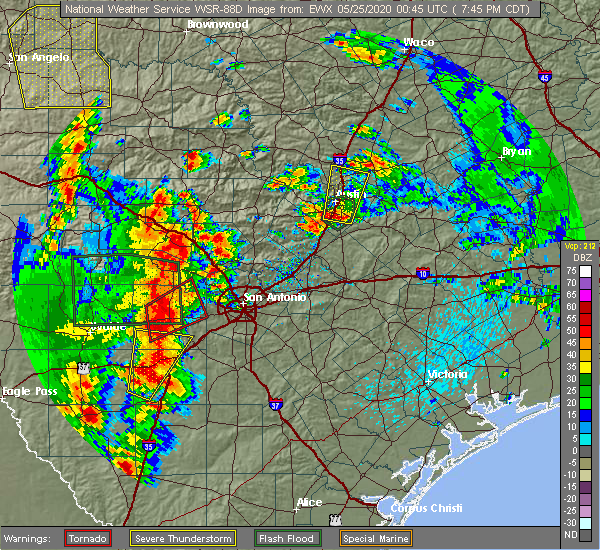 Radar Image for Severe Thunderstorms near Granite Shoals, TX at 5/24/2020 8:03 PM CDT