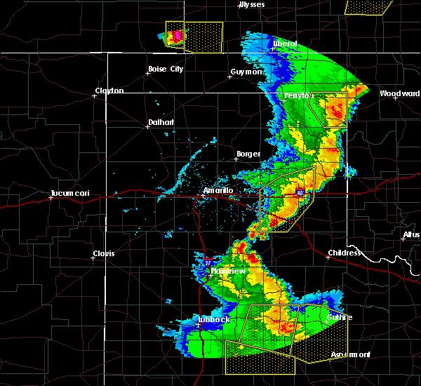 Radar Image for Severe Thunderstorms near Lefors, TX at 5/24/2020 8:08 PM CDT
