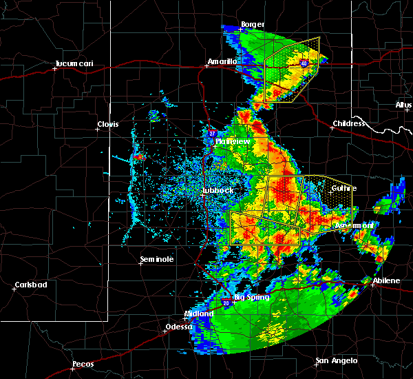 Radar Image for Severe Thunderstorms near Guthrie, TX at 5/24/2020 8:10 PM CDT