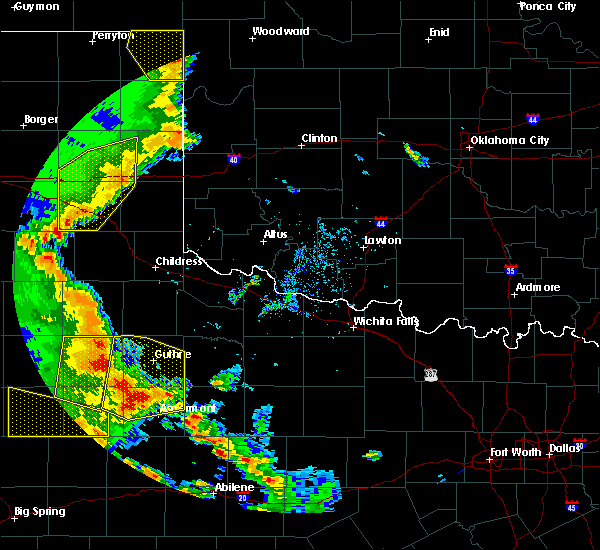 Radar Image for Severe Thunderstorms near Guthrie, TX at 5/24/2020 8:17 PM CDT