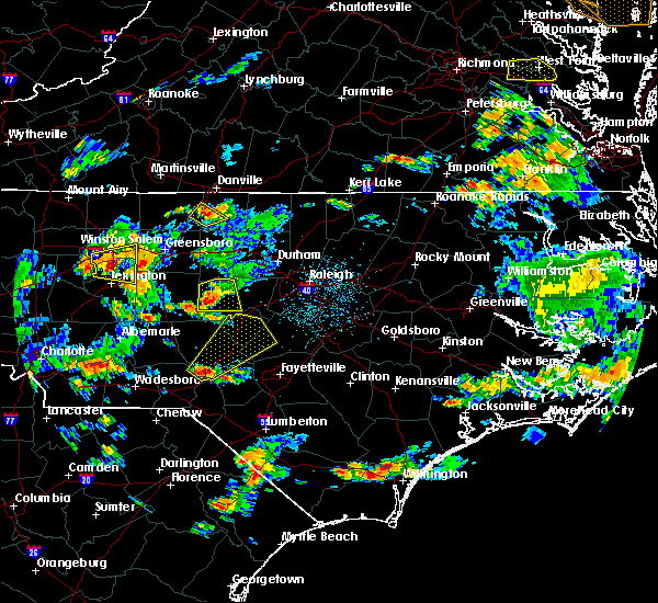 Radar Image for Severe Thunderstorms near Sanford, NC at 6/27/2015 5:16 PM EDT