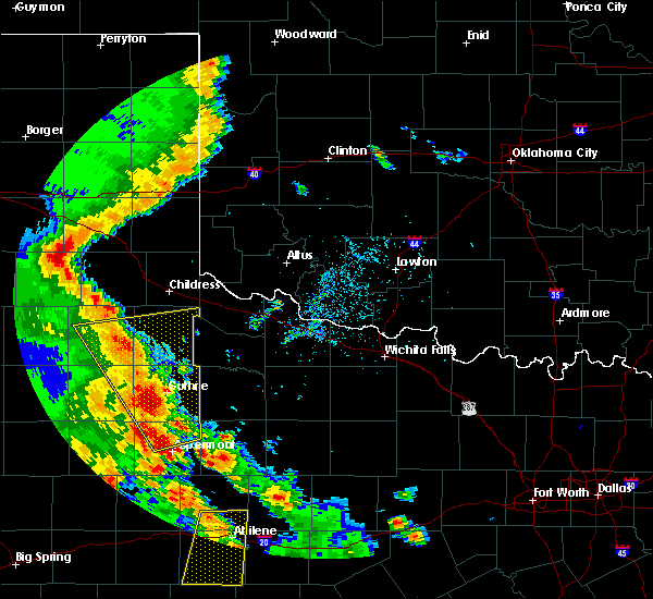 Radar Image for Severe Thunderstorms near Guthrie, TX at 5/24/2020 8:36 PM CDT