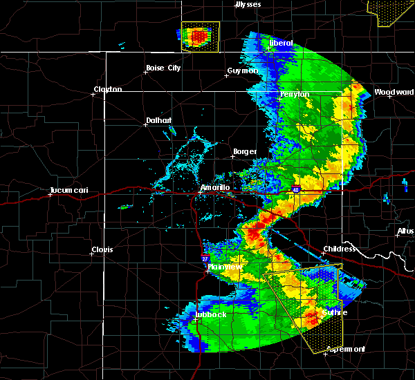 Radar Image for Severe Thunderstorms near Samnorwood, TX at 5/24/2020 8:41 PM CDT
