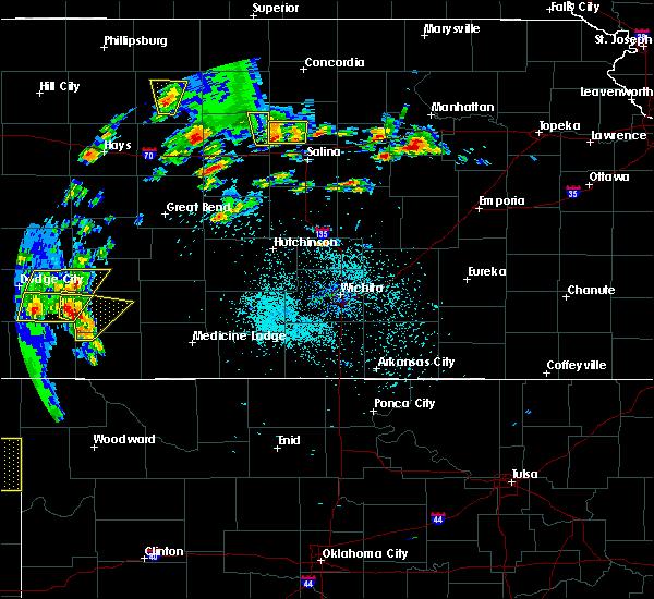 Radar Image for Severe Thunderstorms near Ellsworth, KS at 5/24/2020 8:50 PM CDT