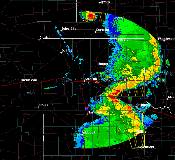 Radar Image for Severe Thunderstorms near Samnorwood, TX at 5/24/2020 9:03 PM CDT