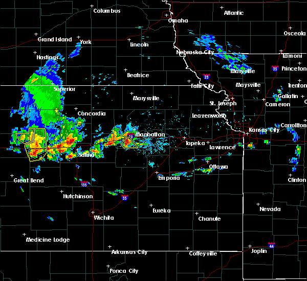 Radar Image for Severe Thunderstorms near Chapman, KS at 5/24/2020 9:06 PM CDT