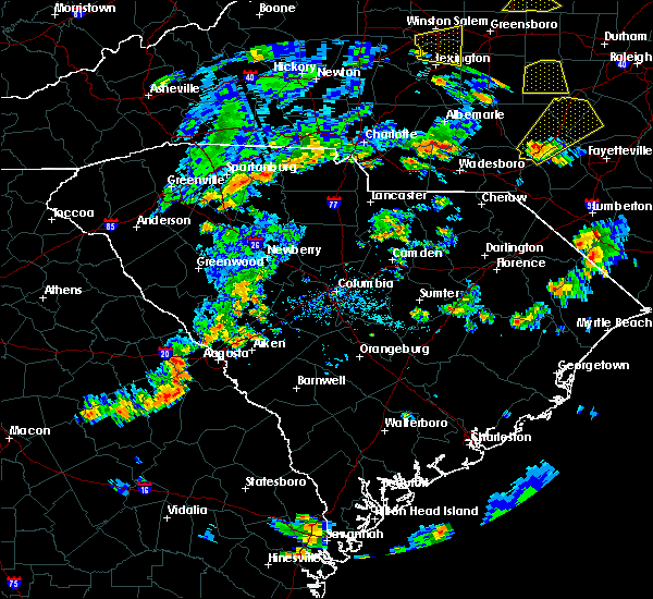 Radar Image for Severe Thunderstorms near Belvedere, SC at 6/27/2015 5:20 PM EDT