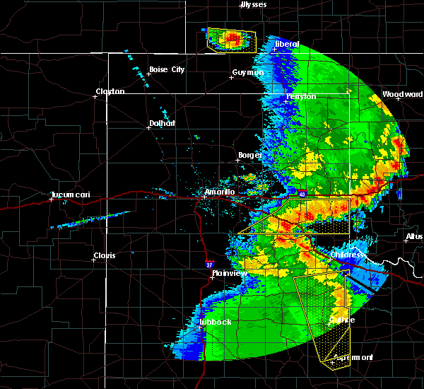Radar Image for Severe Thunderstorms near Samnorwood, TX at 5/24/2020 9:20 PM CDT