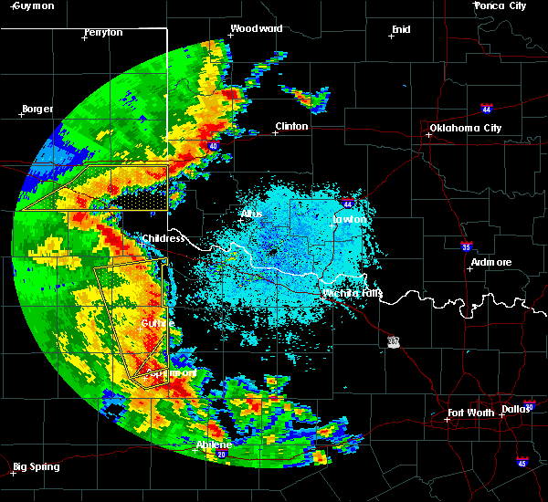 Radar Image for Severe Thunderstorms near Burns Flat, OK at 5/24/2020 9:21 PM CDT