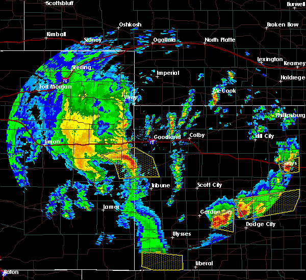 Radar Image for Severe Thunderstorms near Wallace, KS at 5/24/2020 8:25 PM MDT