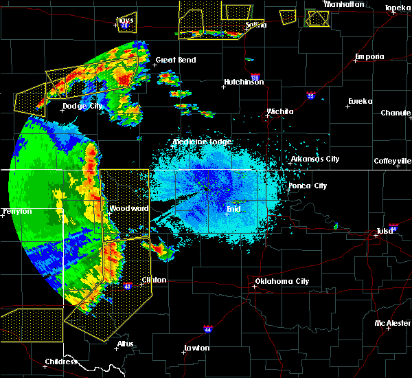 Radar Image for Severe Thunderstorms near Vici, OK at 5/24/2020 9:30 PM CDT