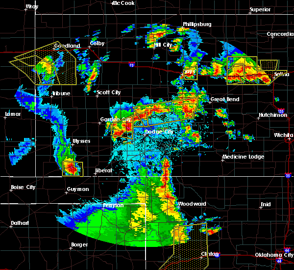 Radar Image for Severe Thunderstorms near Bazine, KS at 5/24/2020 9:31 PM CDT