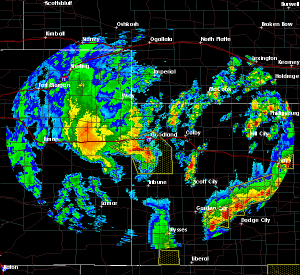 Radar Image for Severe Thunderstorms near Wallace, KS at 5/24/2020 8:44 PM MDT