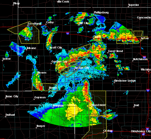 Radar Image for Severe Thunderstorms near Bazine, KS at 5/24/2020 9:48 PM CDT