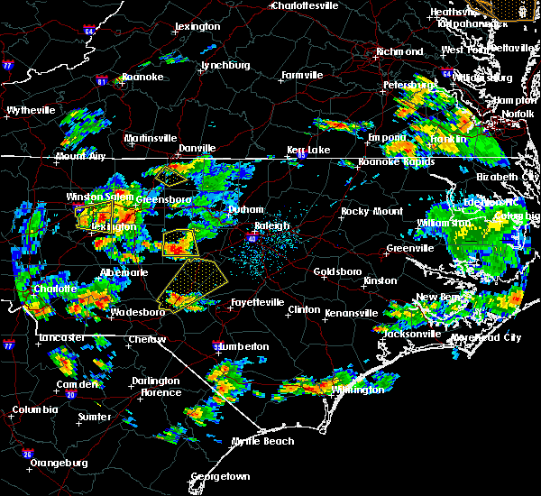 Radar Image for Severe Thunderstorms near Sanford, NC at 6/27/2015 5:30 PM EDT