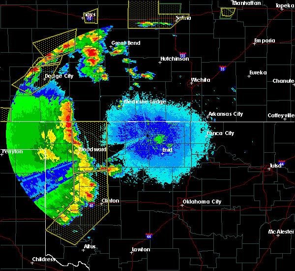 Radar Image for Severe Thunderstorms near Vici, OK at 5/24/2020 9:52 PM CDT