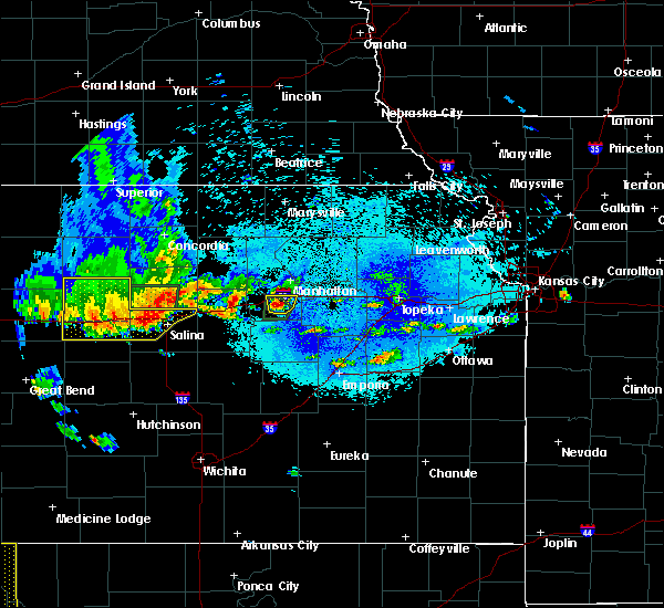 Radar Image for Severe Thunderstorms near Brookville, KS at 5/24/2020 9:56 PM CDT