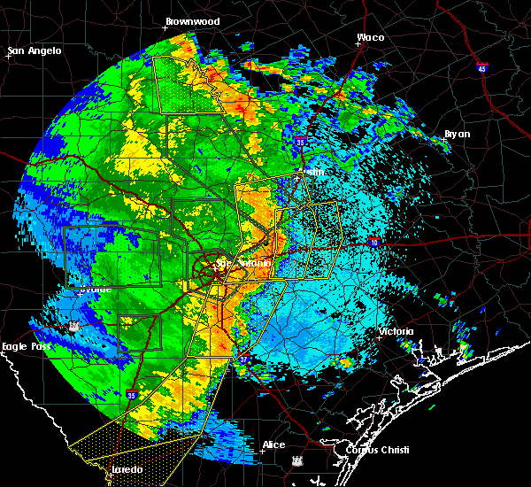 Radar Image for Severe Thunderstorms near Kyle, TX at 5/24/2020 10:00 PM CDT
