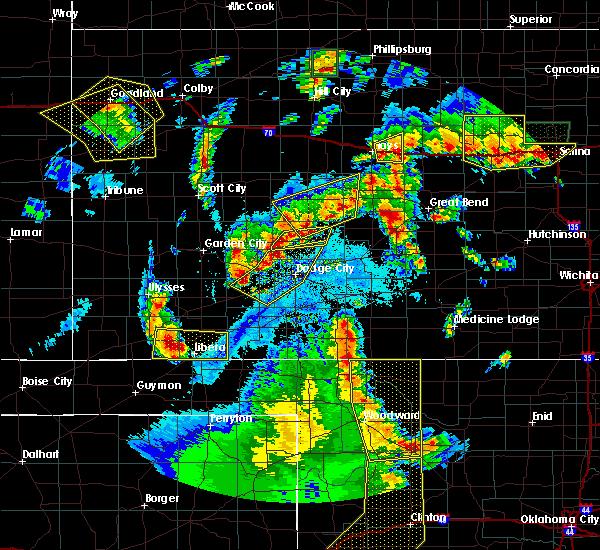 Radar Image for Severe Thunderstorms near Ensign, KS at 5/24/2020 10:05 PM CDT