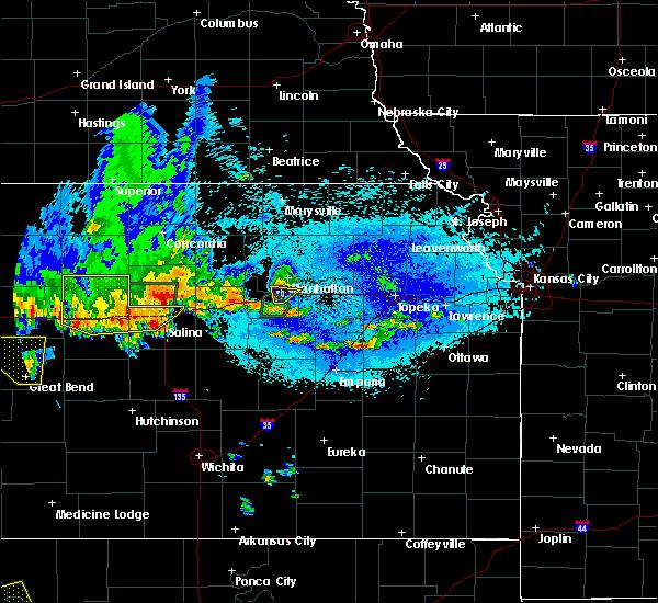 Radar Image for Severe Thunderstorms near Ogden, KS at 5/24/2020 10:26 PM CDT