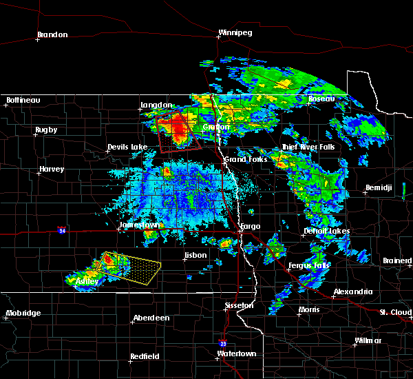 Radar Image for Severe Thunderstorms near Inkster, ND at 6/27/2015 4:35 PM CDT