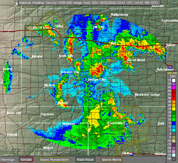 Radar Image for Severe Thunderstorms near Susank, KS at 5/24/2020 10:54 PM CDT